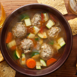 Mexican Turkey Meatball Soup