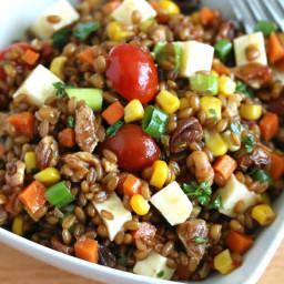 Mexican Wheat Berry Salad with Chipotles and Toasted Walnuts