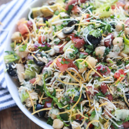 Mexican Chopped Tuna Salad with Creamy Cilantro Dressing