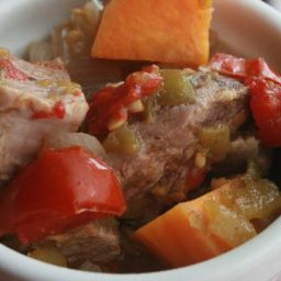 Mexican Pork Sweet Potato Stew-Lunch Version