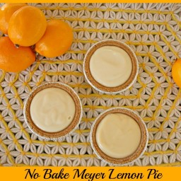 Meyer Lemon Pie (No Bake and 2 ingredients)