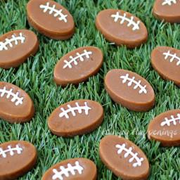 Microwave Caramel Footballs
