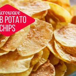 Microwave Herb Potato Chips