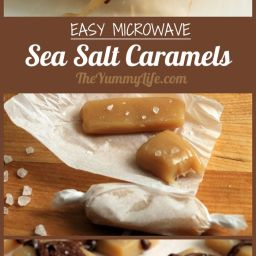 Microwave Sea Salt Caramels