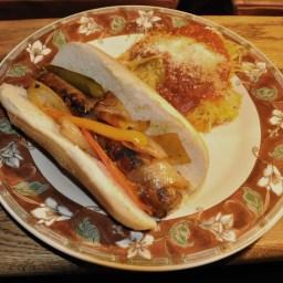 Microwave Spaghetti Squash Italian Style