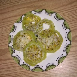 Microwaved Green Tomatoes Parmesan