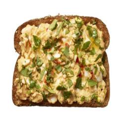 Middle Eastern Egg Salad on Toast