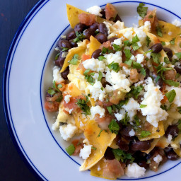 Migas with Black Beans and Cotija