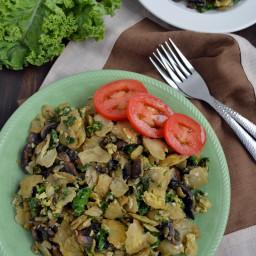 Miguitas con espinaca o kale (huevo con tortilla)