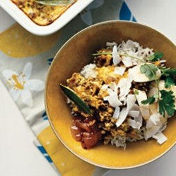 Mild Curried Lamb Casserole with Almonds