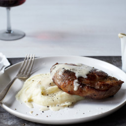 Milk-Braised Pork Chops with Mashed Potatoes and Gravy