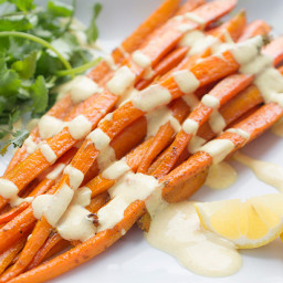 Milk Means More: Moroccan Roasted Carrot Salad with Yogurt Dressing