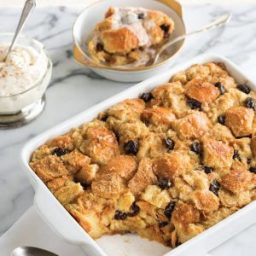 Milk Punch Bread Pudding with Brandy Hard Sauce