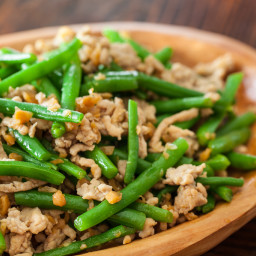 Minced Pork and Long Beans Stir Fry