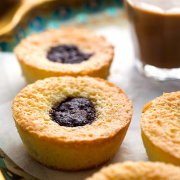 Mini Almond Cakes With Chocolate or Cherry