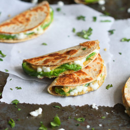 Mini Avocado and Hummus Quesadilla Recipe {Healthy Snack}
