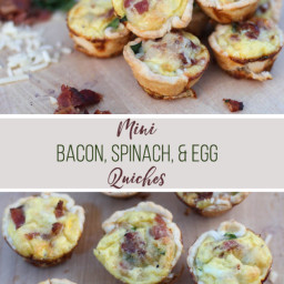 Mini Bacon, Spinach, and Egg Quiches