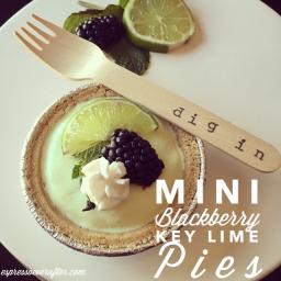 Mini Blackberry Key Lime - Frozen Yogurt Pies