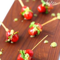 Mini BLT Bites with Avocado Vinaigrette Dressing