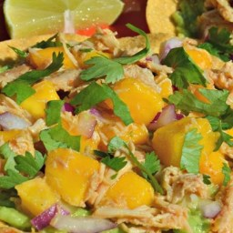 Mini Chicken and Mango Tostadas