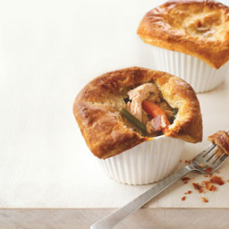 Mini Chicken Pot pies with Bacon and Marjoram