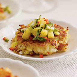 Mini Crab Cakes with Pineapple-Cucumber Salsa