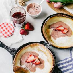 Mini Dutch Baby Pancakes with Whipped Strawberry Mascarpone