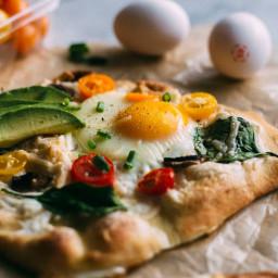 Mini Egg Pizzas