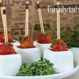 Mini Meatballs in Marinara Sauce