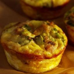 Mini Mushroom- and -Sausage Quiches