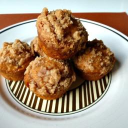 Mini Pumpkin Streusel Muffins