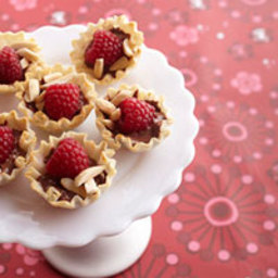 Mini Raspberry Chocolate Tarts