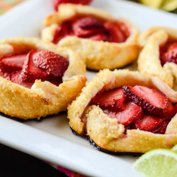 Mini Strawberry Limeade Galettes
