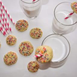 Mini Sugar Cookies and Milk   Homemade