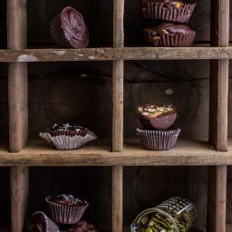 Mini Pumpkin Seed Candy Chocolate Peanut Butter Cups.