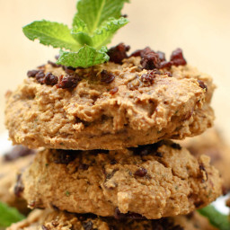 Mint Chocolate Chip Cookies (GF + oil-free)