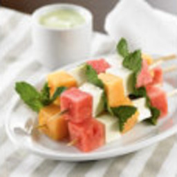 Minted Melon Appetizer Skewers