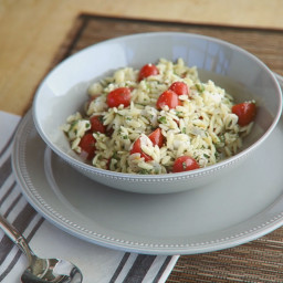 Minted Orzo with Tomatoes