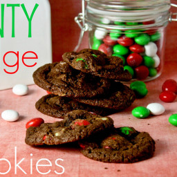Minty Fudge Cookies
