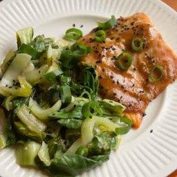 Miso-Glazed Salmon with Bok Choy