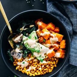 Miso Glazed Sweet Potato Bowls