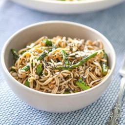 Miso-Roasted Asparagus Soba Noodle Salad
