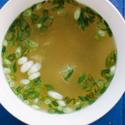 Miso Soup with Scallions and Shiso