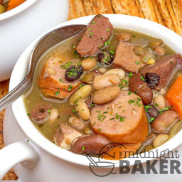 Mixed Bean Soup with Ham and Kielbasa