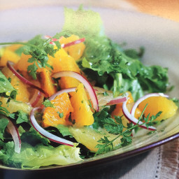 Mixed Citrus with Red Onions and Greens