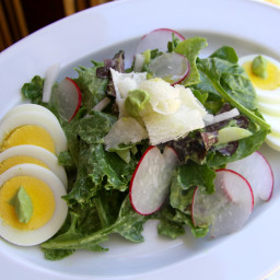 Mixed Green Salad with Avocado Dressing