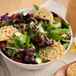 Mixed Green Salad With Parmigiano Crisps
