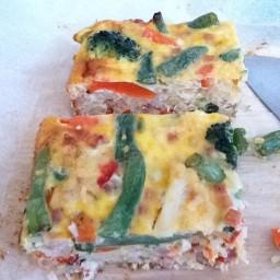 Mixed veggie fritata