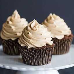 Mocha Cupcakes Recipe with Espresso Buttercream Frosting