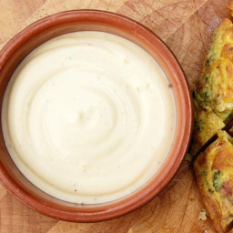 Modern Spanish-style Allioli (Olive Oil and Garlic Mayonnaise)